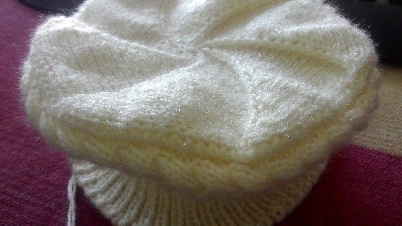a78483b5f5f Braid Hat   Topi  Cap Design in hindi knitting (टोपी   बेल वाली )