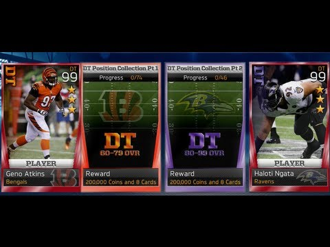 Madden 13 Ultimate Team | NEW DT Position Collection | 3 Star Geno Atkins and 3 Star Haloti Ngata
