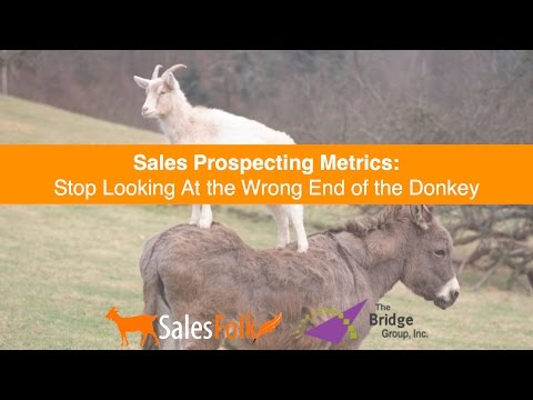 Sales Prospecting Metrics: Stop Looking At the Wrong End of the Donkey
