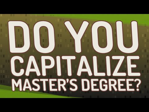do-you-capitalize-master's-degree?