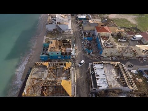 Drone footage show destruction on St Martin after Hurricane Irma