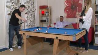 Www.madfun.co.uk - 6ft Folding Leg Pool Table Bce Fp-6