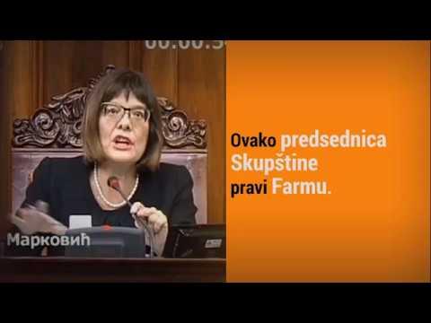 Ovako Maja Gojković pravi Farmu od Skupštine
