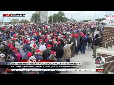 🔴INSANELY LONG Lines to See President Trump at Rally in Richmond, KY 101318