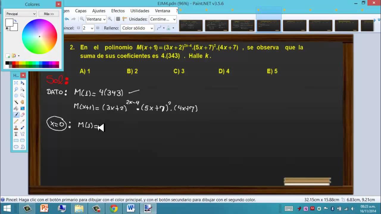 Algebra Pre San Marcos 5 - Primera Parte - YouTube