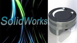solidWorks. Поршень двигателя. Детали машин (Урок 18) - 1 / Уроки SolidWorks