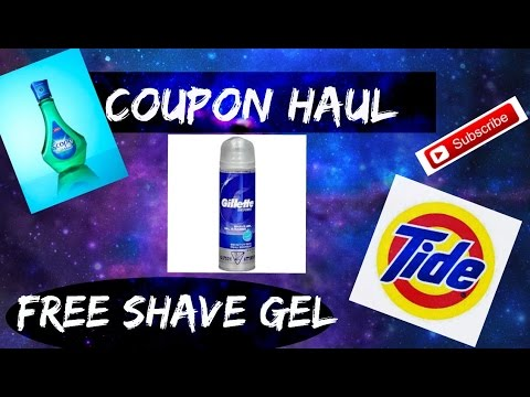 Coupon Haul: Free Gilette Shave cream, $0.48 Tide pods & Free Mouthwash