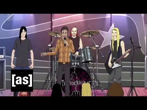 Dethklok Sees Thunderhorse  Metalocalypse  Adult Swim