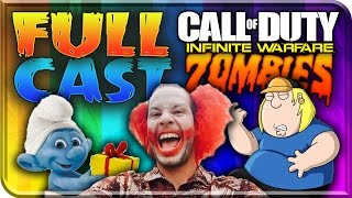 Who The Zombie Characters Are! INFINITE WARFARE ZOMBIES FULL CAST Space Zombies COD Family Guy Voice