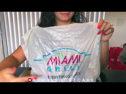 Miami Subs Grill / CRISPY CHICKEN WINGS ASMR Eating Sounds *No Talking .