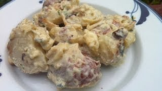 Best Potato Salad Recipe - Grilled With Bacon And Blue Cheese