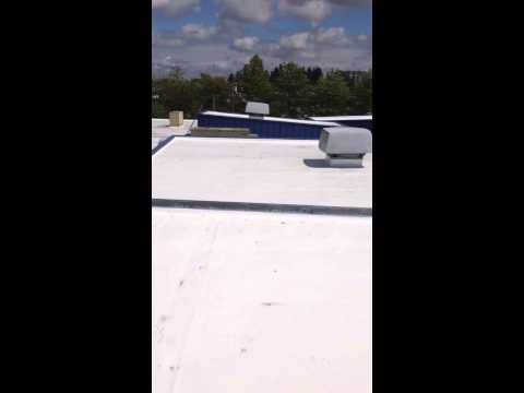 Single Ply Commercial Roofing Installed by Cougar Construction and Roofing LLC