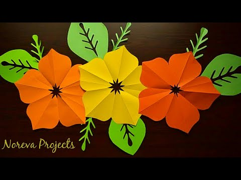Easy Paper Flowers | Easy Home Decoration Ideas | DIY Backdrop Paper Flowers | Paper Flower Making