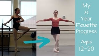My 8 Year Fouette Progress En Pointe Ages 12-20 Robbie Downey
