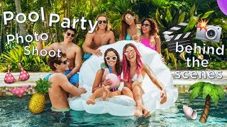behind the scenes | friends & family pool party photoshoot + SALE