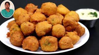 1 கப் கடலை பருப்பு இருந்தா இப்பவே இதுபோல போண்டா செஞ்சி பாருங்க | Snacks Recipes in Tamil