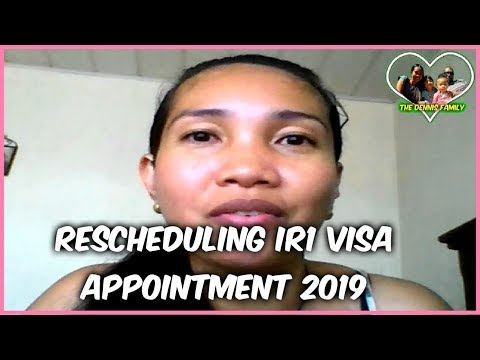 U.S. VISA EP14: Rescheduling Interview Appointment For IR1 Visa 2019