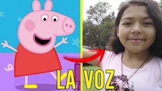 La voz detras de PEPPA PIG | 5 voces detras de las caricaturas parte 3