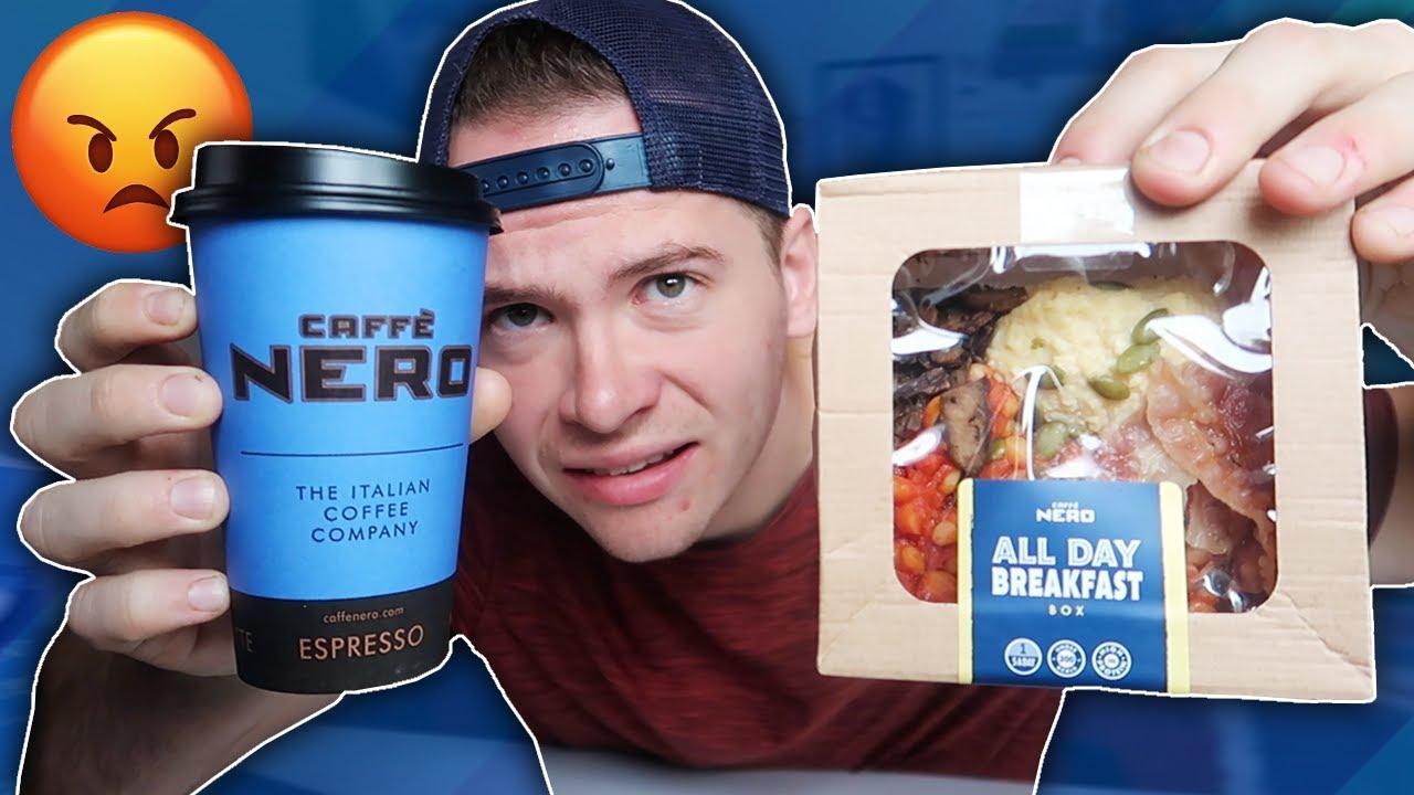 HALF FULL OR HALF EMPTY 😂 I Eating Caffè Nero's All Day Breakfast Box!! (🤢  or 😍)