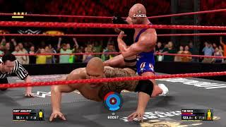 【WWE2K17】 【レジェンド対決】カート・アングル VS  ザ・ロック 真夏のG1トーナメントB グループ 2回戦※高画質