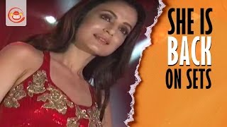 Ameesha Patel is back on Tollywood Sets for an Item Song in Akatayi Movie