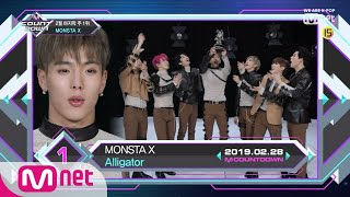 Top in 4th of February, 'MONSTA X' with 'Alligator', Encore Stage! (in Full) M COUNTDOWN 190228 EP.6