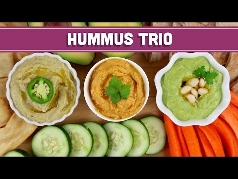 Homemade Healthy Hummus - 3 Ways!! Mind Over Munch
