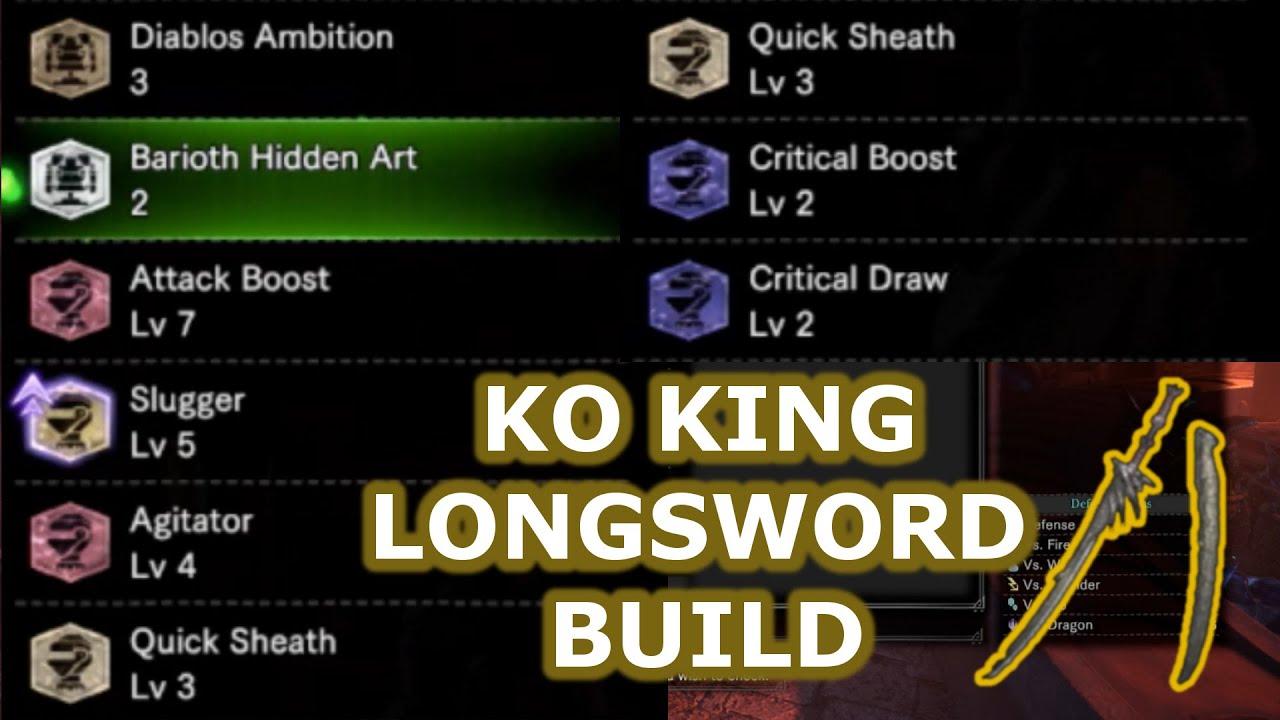 Mhw Ko King Longsword Punishing Crit Draw Lai Slash Meme Build