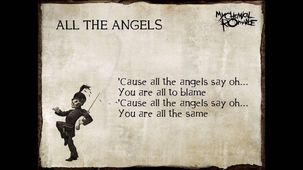 My Chemical Romance - All The Angels Lyrics | MetroLyrics