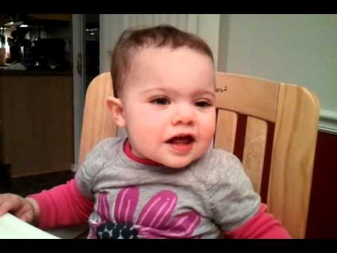 Baby Flashes Stink Eye - YouTube