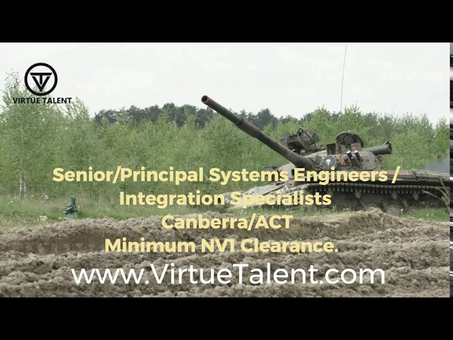 Systems & Safety Engineers Job (Defence) - VIC/SA/ACT VIRTUE TALENT PTY LTD | www.VirtueTalent.com
