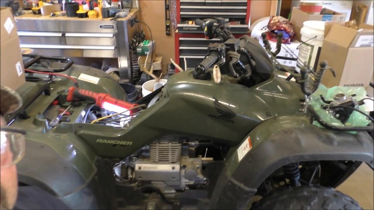hight resolution of honda rancher 2006 trx350te replacing carburetor by kvusmc