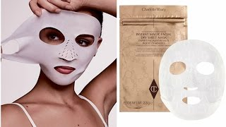 Magical Paper Mask! Charlotte Tilbury Dry Sheet Mask REVIEW!
