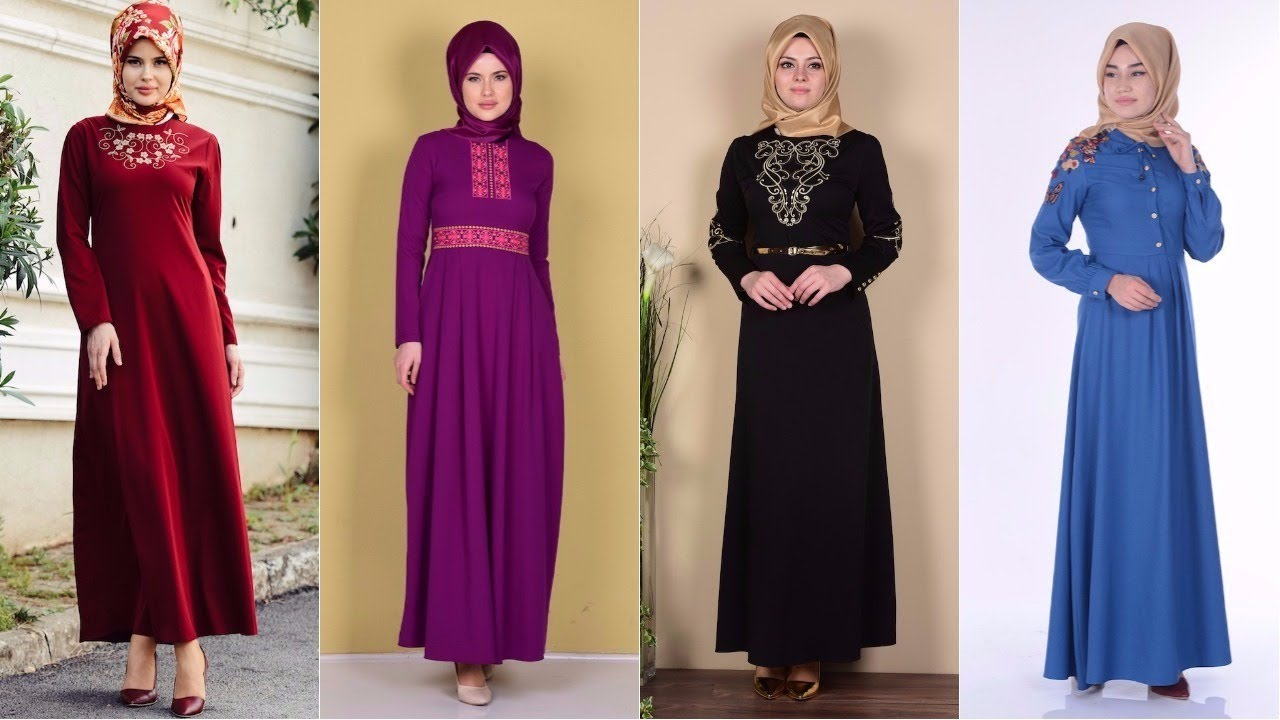 8731621884518 Sefamerve Nakışlı Elbise Modelleri 2/2 - YouTube
