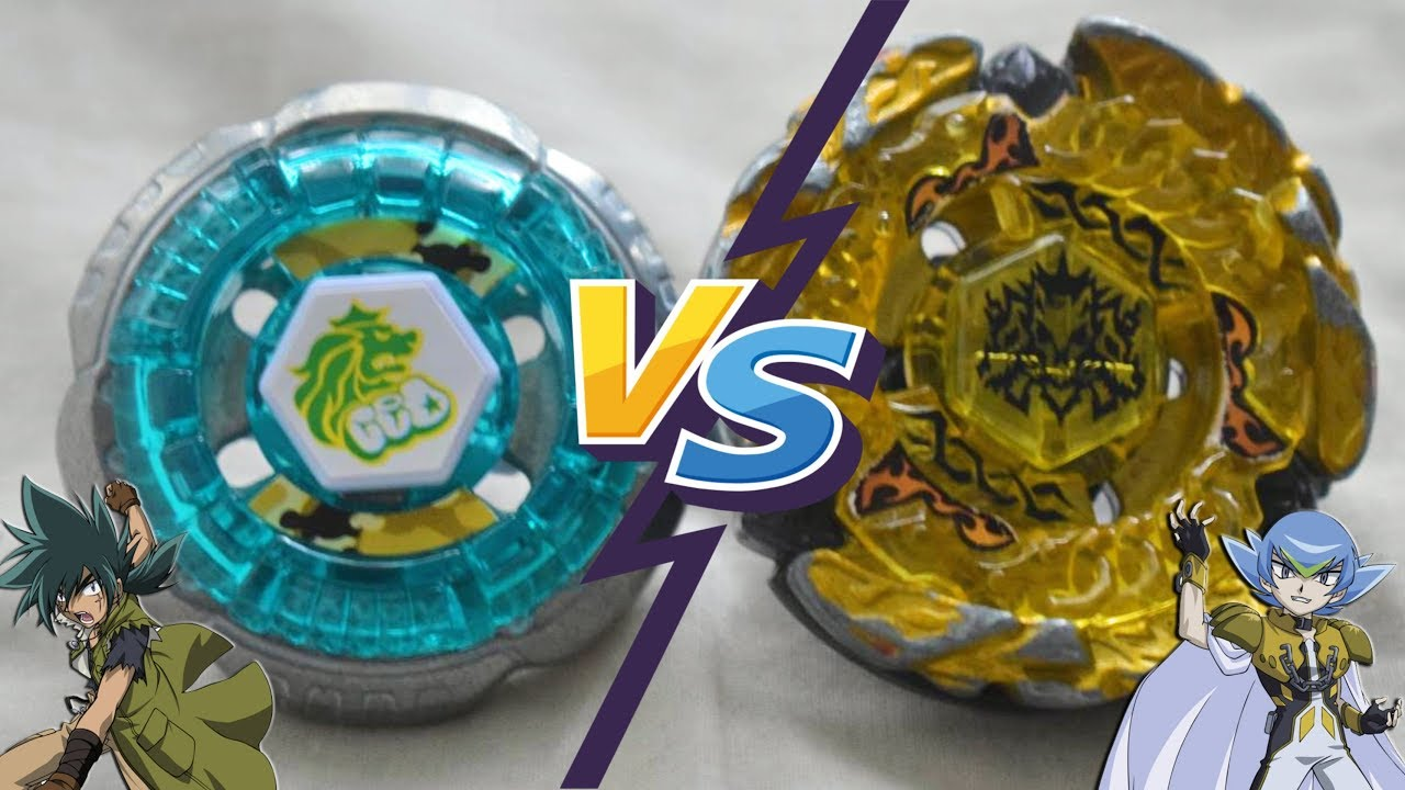 Rock Leone 145WB vs Hell Kerbecs BD145DS  - Beyblade Metal Masters Kyoya vs Damian