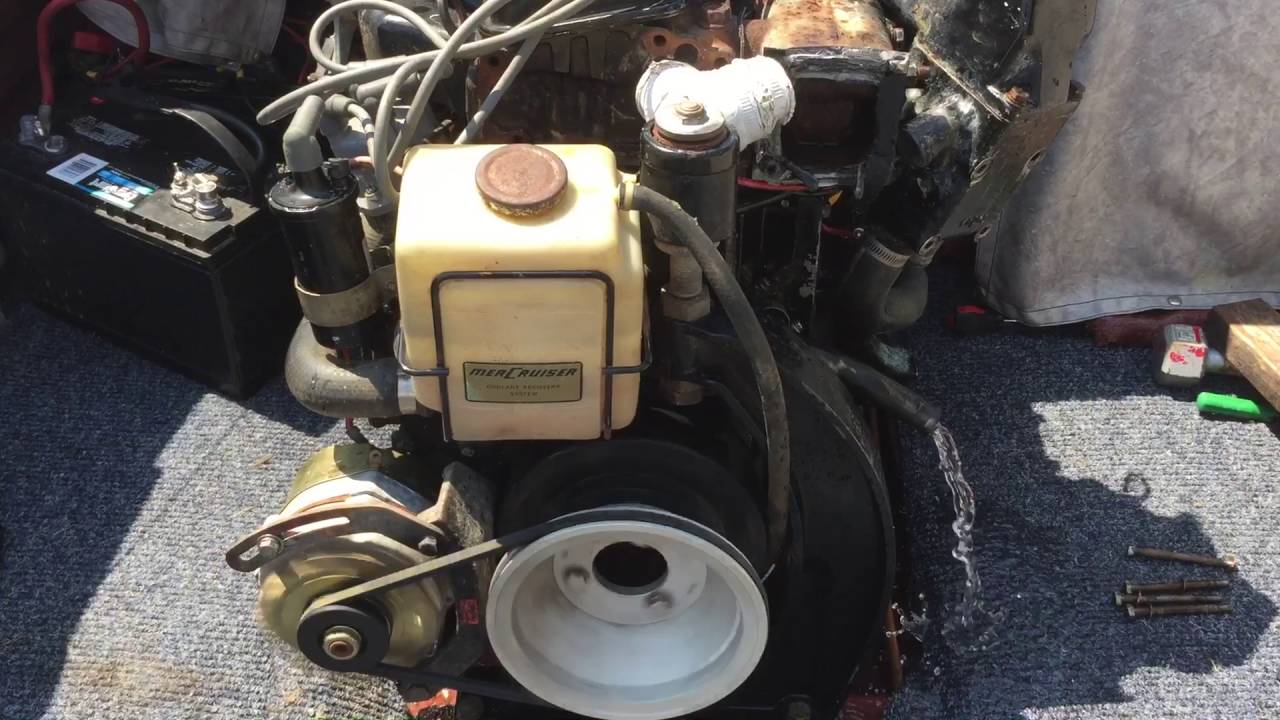 medium resolution of mercruiser 470 170hp running without cooling system