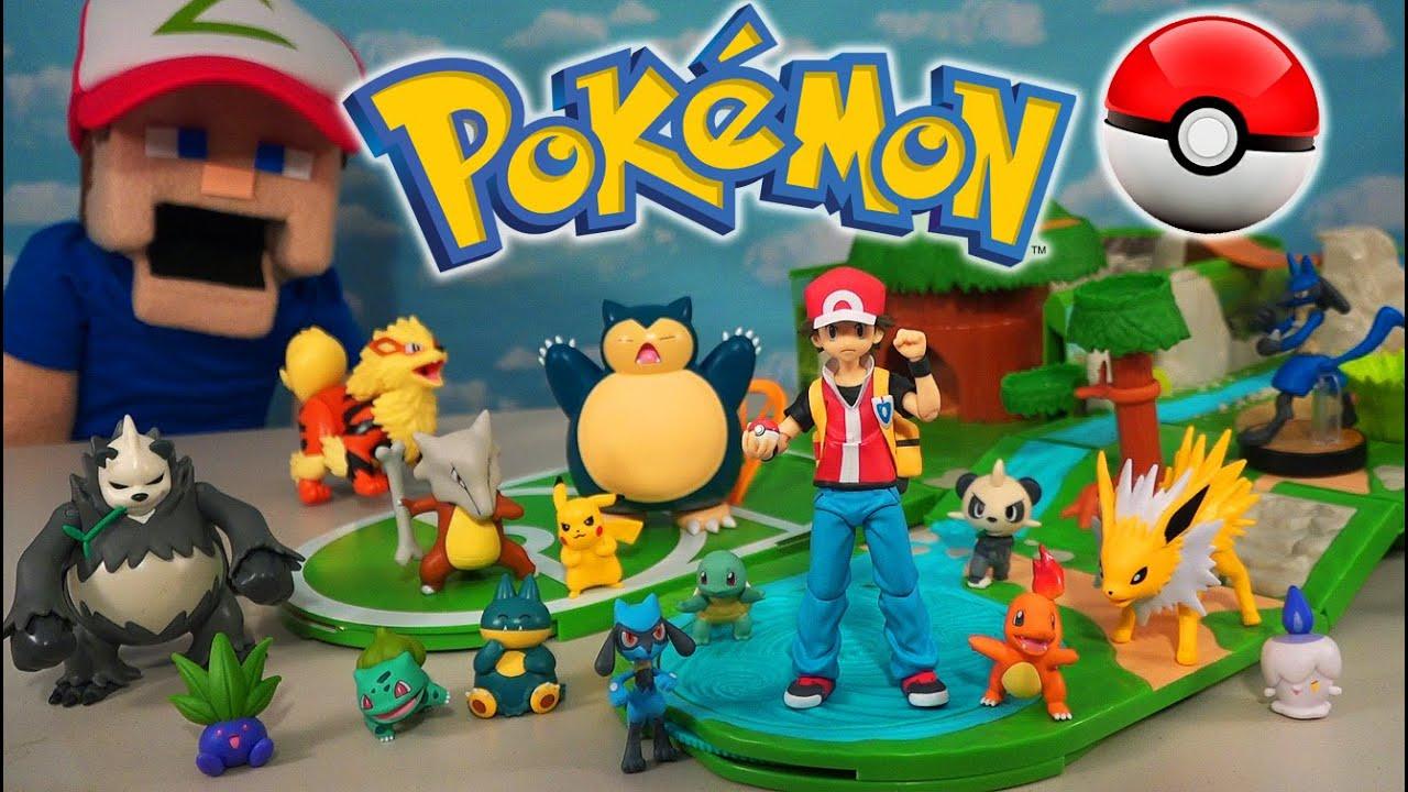 POKEMON Red Trainer Ash Sigma Trainer & Series 4 Figures Stadium Playset Unite!