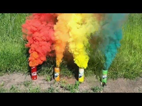 Как сделать цветную дымовую шашку своими руками | Цветная дымовуха