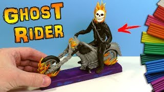 HOW TO MAKE GHOST RIDER | Modelling Clay Tutorial