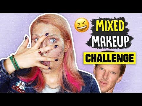 ♦ MIXED MAKEUP #CHALLENGE! 😂 ♦ Agnieszka Grzelak Beauty