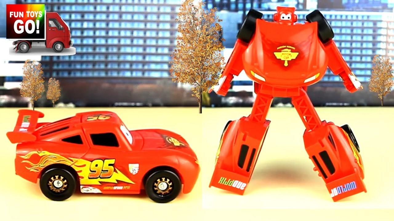 Transformers Lightning Mcqueen From Cars Toy For Kids Pixar Review