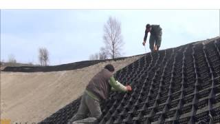 видео Технология укладки геомата