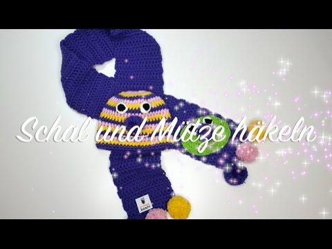 Schal und Mütze häkeln - Myboshi Isehara Kindermütze und Schal ...