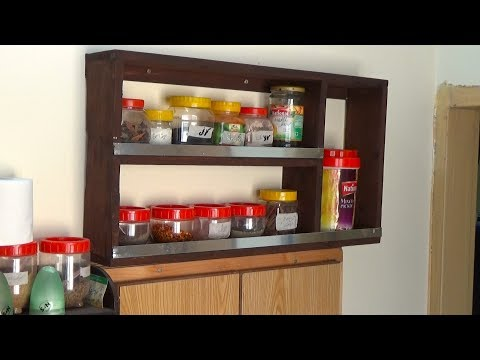 How to Make Wooden Spice Rack || Spice Rack Idea for Kitchen