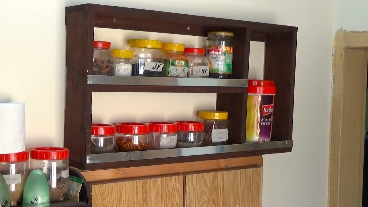 Spice Rack Idea for Kitchen