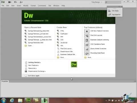 Dreamweaver CS6 Tutorial: Basic HTML - Part 4 - Create a Website Course - 동영상