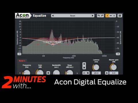 Acon Digital Equalize VST/AU EQ in action!