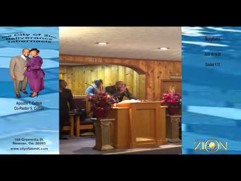 The City of Zion Deliverance Tabernacle Church Service 2015 Clip 2