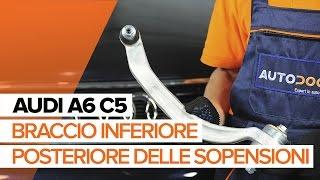Come sostituire il braccio inferiore posteriore delle sopensioni su AUDI A6 C5 [TUTORIAL]