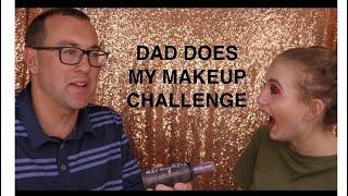 DAD DOES MY MAKEUP CHALLENGE |  Hailey Garofalo